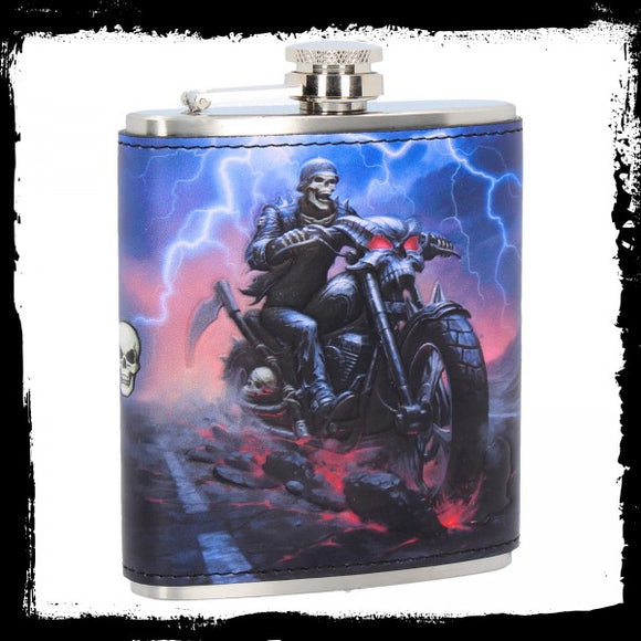 Hell on the Highway Hip Flask (JR) 7oz - Gothic Fantasy Store