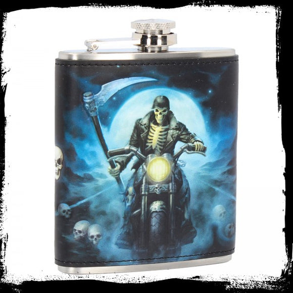 Hell Rider Hip Flask (JR) 7oz - Gothic Fantasy Store