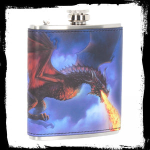 Fire in the Sky Hip Flask (JR) 7oz - Gothic Fantasy Store