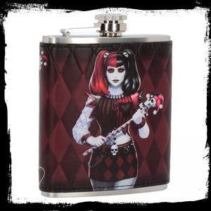 Dark Jester Hip Flask (JR) 7oz - Gothic Fantasy Store