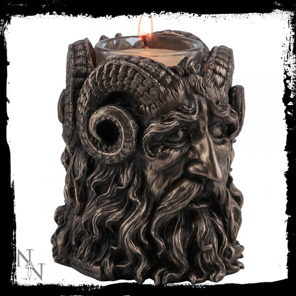 Horned God Tea Light Holder 9.5cm - Gothic Fantasy Store