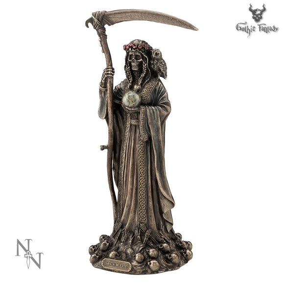 Santa Muerte Lady Of The Shadow's Figurine 29cm Protection & Healing - Gothic Fantasy Store