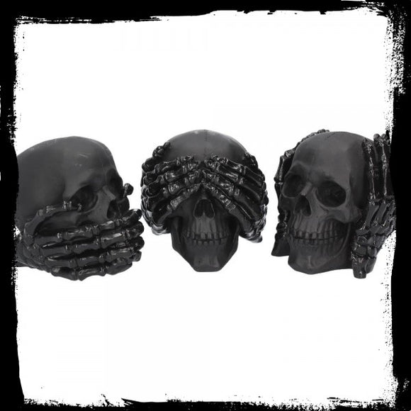 Dark See No, Hear No, Speak No Evil Skulls (S/3) - Gothic Fantasy Store