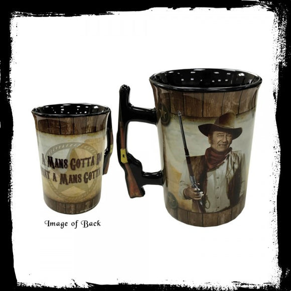 Mug - John Wayne - A Mans Gotta Do 16oz