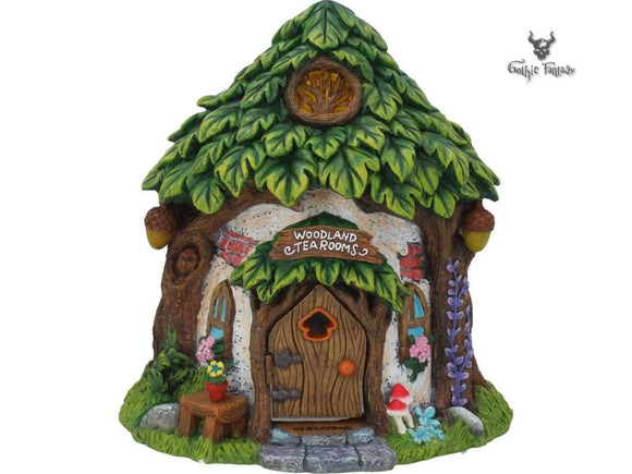 Woodland Tea Rooms Fairy House 21cm Pixie Home Fairy Garden - Gothic Fantasy Store