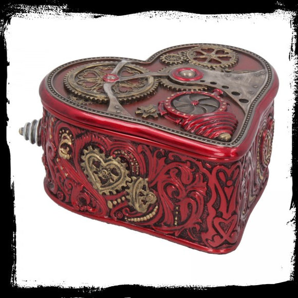 Steampunk Heart by Myles Pinkney 10.5cm - Gothic Fantasy Store