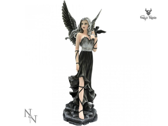 Andras Fairy Large Gothic Figurine Nemesis Now Dark Angel 60cm - Gothic Fantasy Store