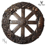 Wheel Of The Year Plaque 25cm - Gothic Fantasy Store