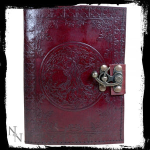 Tree Of Life Leather Journal w/lock 15 x 21cm - Gothic Fantasy Store