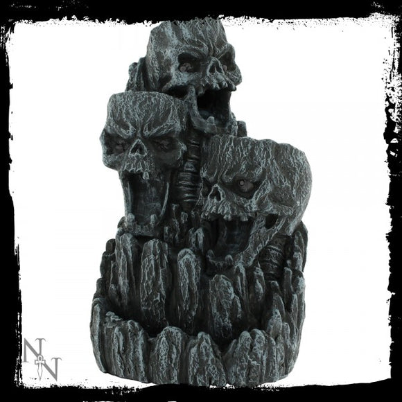 Skull Backflow Incense Tower 17.5cm - Gothic Fantasy Store