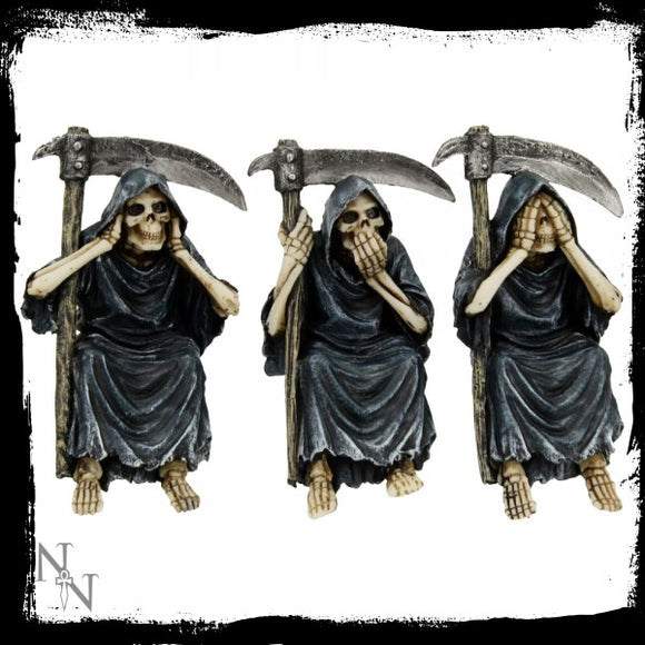 See No, Hear No, Speak No Evil Reapers 14cm - Gothic Fantasy Store