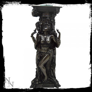 Bronze Triple Goddess Tealight Holder 25cm - Gothic Fantasy Store