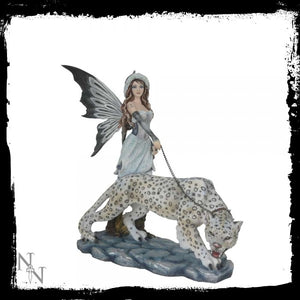 Cortana and the Leopard. 41cm - Gothic Fantasy Store