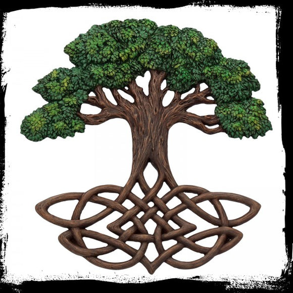 Tree of Life WNemesis Now Plaque (Painted) 33cm - Gothic Fantasy Store