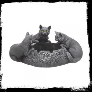 Feline Trio Ashtray 17.7cm Gothic Fantasy
