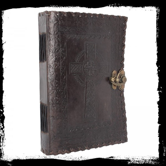 Celtic Cross Leather Journal 25 x 18cm - Gothic Fantasy Store