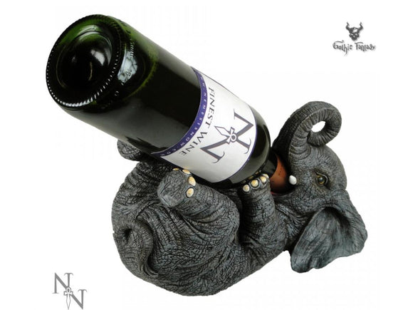 Guzzlers Elephant Wine Bottle Holder Kitchen Decor Elephants Wine Stand - Gothic Fantasy Store