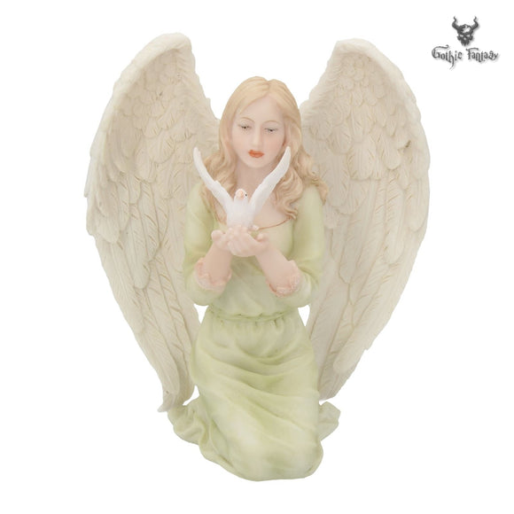 Heavenly Peace Angel Holding a Dove 15cm By Nemesis Now - Gothic Fantasy Store