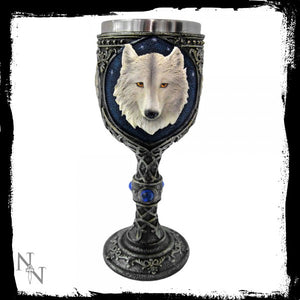 Ghost Wolf Goblet 19.5cm - Gothic Fantasy Store