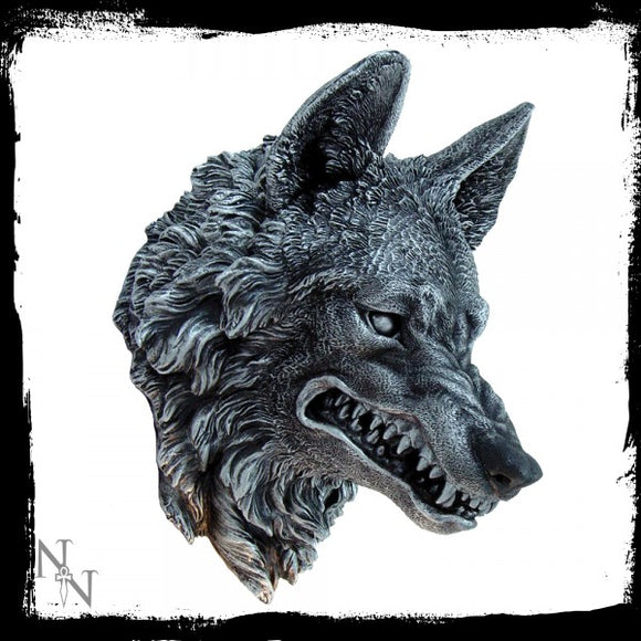 Wolf Wall Plaque 30cm - Gothic Fantasy Store
