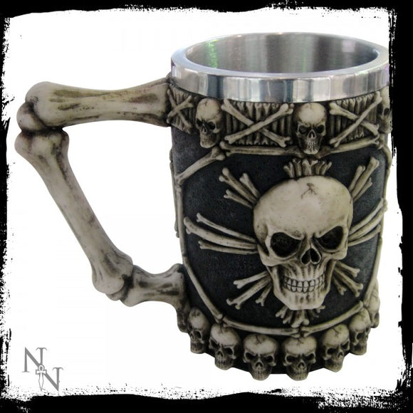 Large Tankard of Skulls 16cm