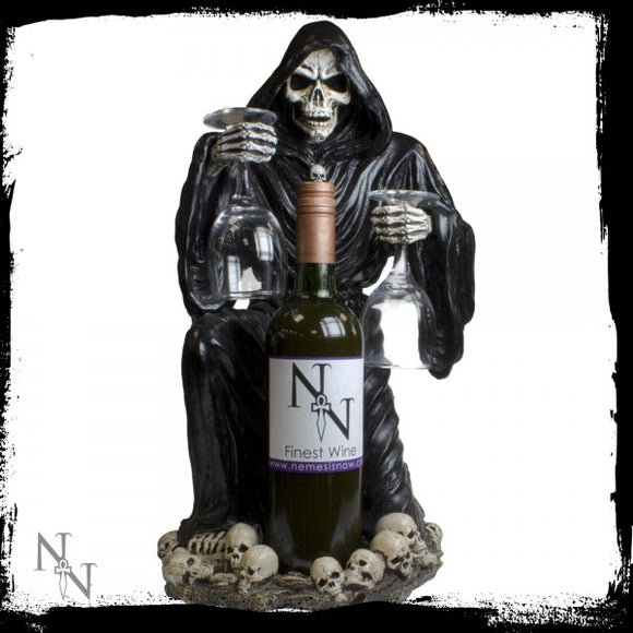 Grim Reaper Bottle & Glass Holder 47cm