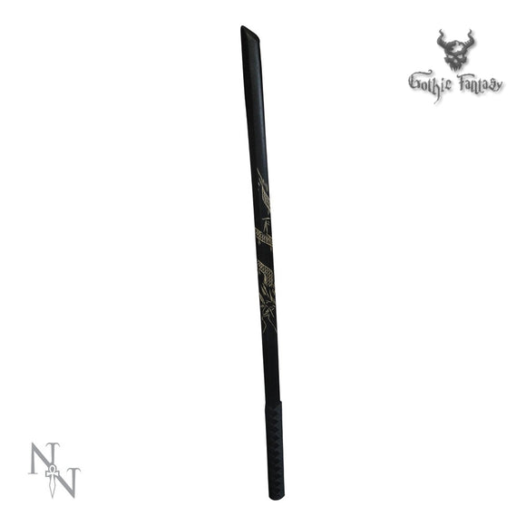 Training Samurai Sword 100cm long Wooden Training Bokken (Black) - Gothic Fantasy Store