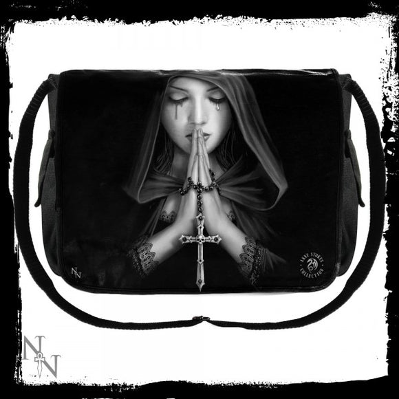 Messenger Bag - Gothic Prayer (AS) 40cm - Gothic Fantasy Store