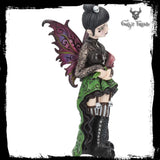 Orchid Little Shadows Fairy with red and blue wings & green highlights - Gothic Fantasy Store