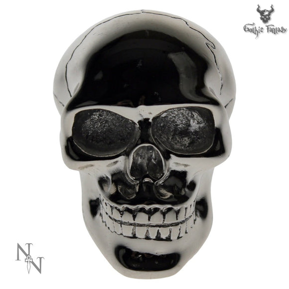 Silver Skull Gear Stick Knob By Nemesis Now Gothic Gear Stick 6cm - Gothic Fantasy Store