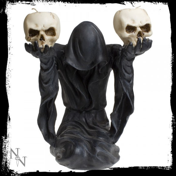 Bow to Darkness Candle Holder 21cm - Gothic Fantasy Store