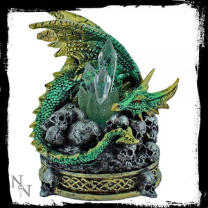 Crystal Crypt Green 11.5cm - Gothic Fantasy Store