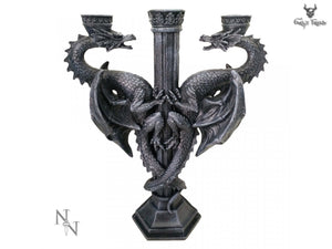 Dragon's Altar 29cm Nemesis Now Two Dragons Candle Holder - Gothic Fantasy Store