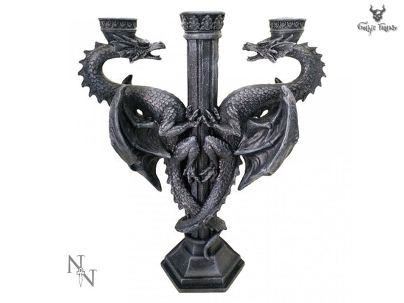 Nemesis Now Two Dragons Candle Holder
