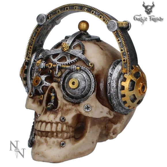 Techno Talk Small Steampunk Skull 14.5cm - Gothic Fantasy Store