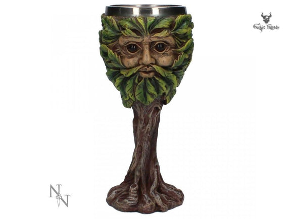 Eyes of the Forest Goblet 18.5cm Green Man Collectable Goblet - Gothic Fantasy Store