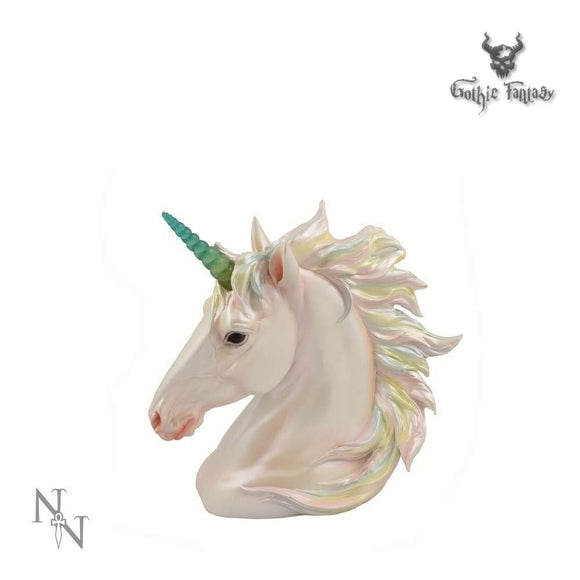 Pearlescent Unchanting Unicorn Figurine With Light Up Horn 20.4cm - Gothic Fantasy Store