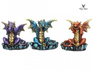 Three Wise Dragons Set of 3 Small Dragons See Hear Speak No Evil - Gothic Fantasy Store