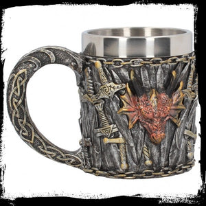 Dragon Kingdom Tankard 11.5cm - Gothic Fantasy Store