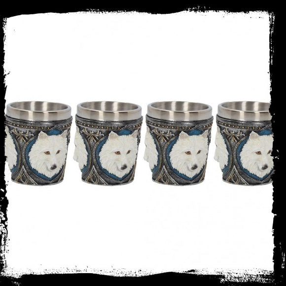 Ghost Wolf Shot Glass (Set of 4) 6.5cm - Gothic Fantasy Store