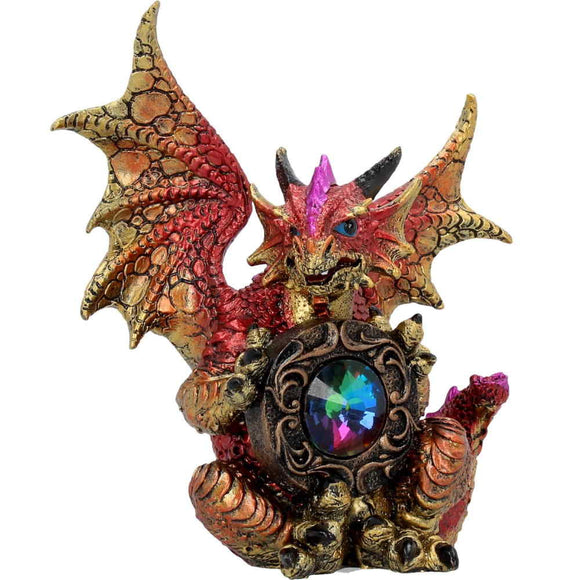 Rainbow Guardian Dragon holding a Gem by Nemesis Now - Gothic Fantasy Store