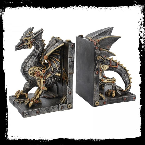 Dracus Machina Bookends 27cm - Gothic Fantasy Store