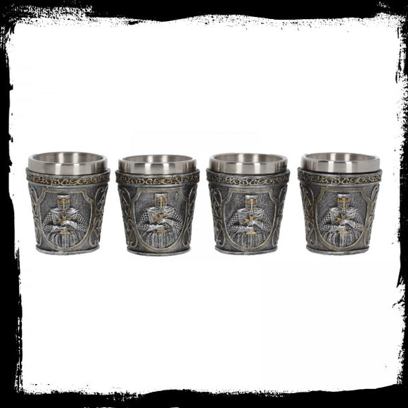 Armoured Shot Glass (Set of 4) 6.5cm - Gothic Fantasy Store