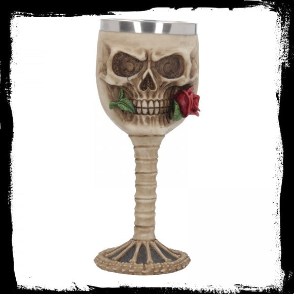 Rose from the Dead Goblet 18.5cm - Gothic Fantasy Store
