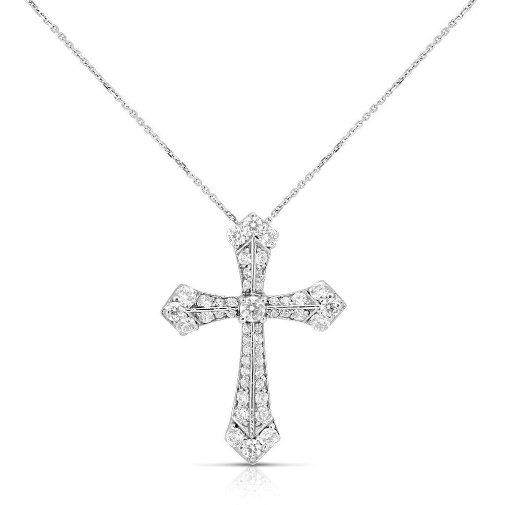 Diamond cross necklace for women holy vintage templar cross diamond cross necklace for women holy vintage templar cross pendant elegant 14k white gold aloadofball Image collections
