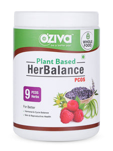 OZiva Super Combo - Protein & Herbs (500g) +OZiva HerBalance for PCOS (250 gm) + Shaker (350ml)