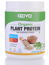 OZiva Organic Plant Protein, For Everyday Fitness - Unflavored ( Lactose Free, Cholesterol Free, Soy Free, Sugar Free)