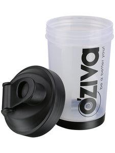 OZiva Shaker (500 ml), Black top with Measurement Markings