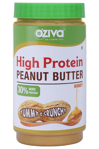 High Protein Peanut Butter, Crunchy (with Pea Protein Isolate, Brahmi, Honey & more), 850g