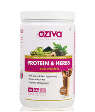 OZiva Protein & Herbs, Women - Chocolate, Whey Protein Powder with Ayurvedic Herbs & Multivitamins - 2.5 kgs